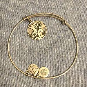 Alex and ani silver tone adjustable bracelet
